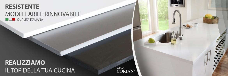 Corian - Resistente Modellabile Rinnovabile - Realizziamo il top della tua cucina